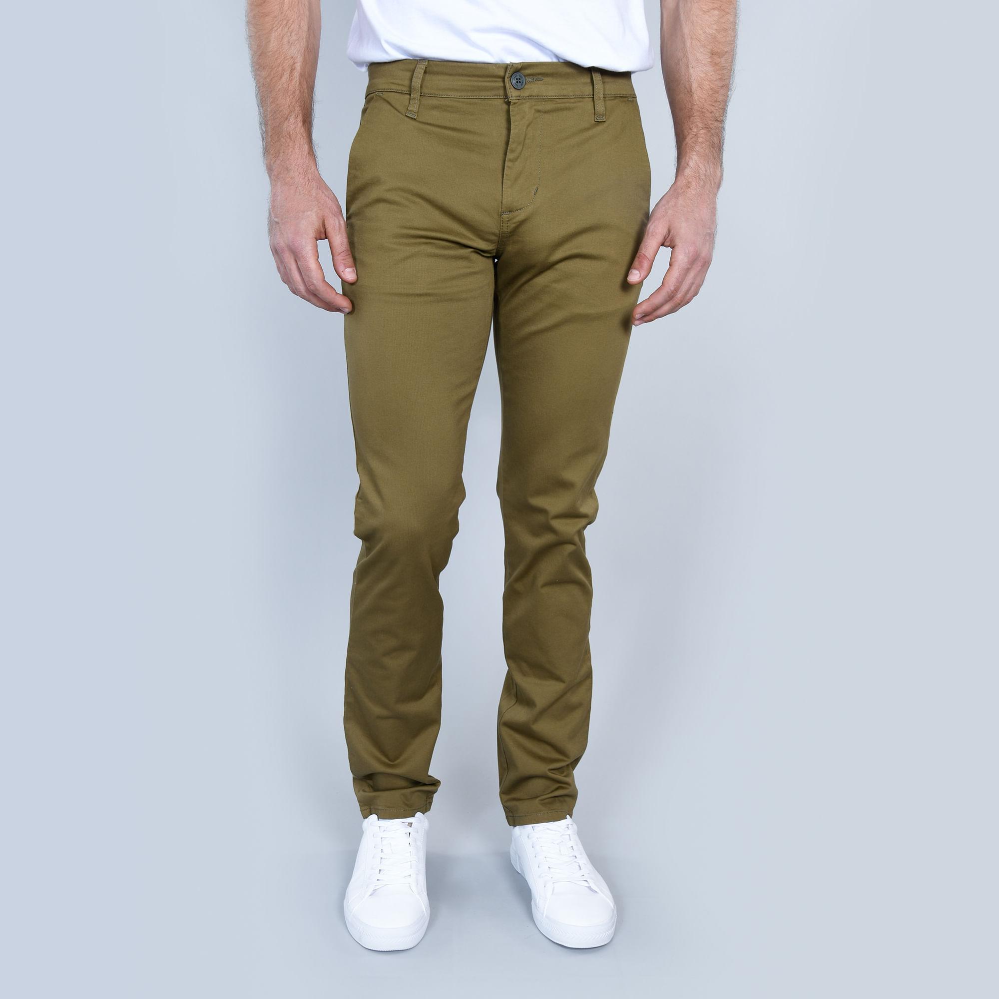 Compra Pantalon Chinos Slim New Frost Olive I Hombre ...