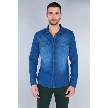 Camisa Vaquera de Mezclilla Blue Bleach