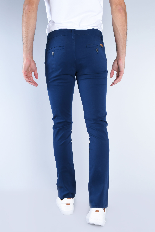 Compra Pantalones Chinos Gabardina Stretch Azul Marino I Hombre 121465 Oggi Jeans