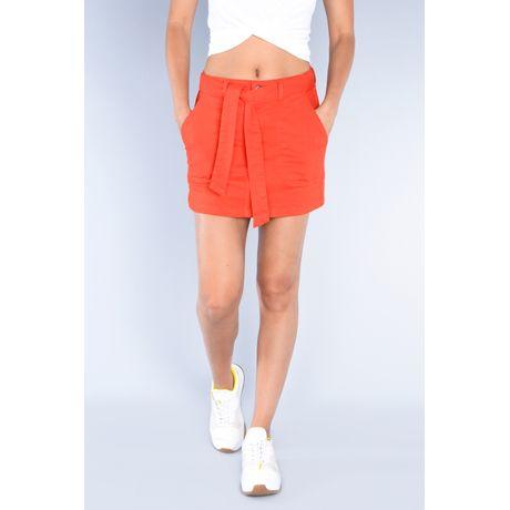 Falda corta de gabardina Coral