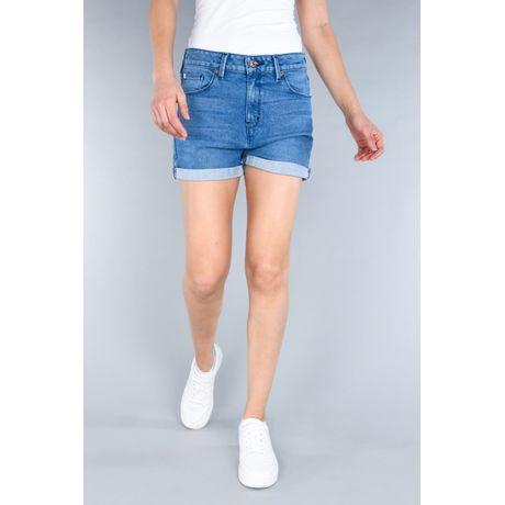 Shorts Vaqueros Oggi Azul Medio Mezclilla Regular.