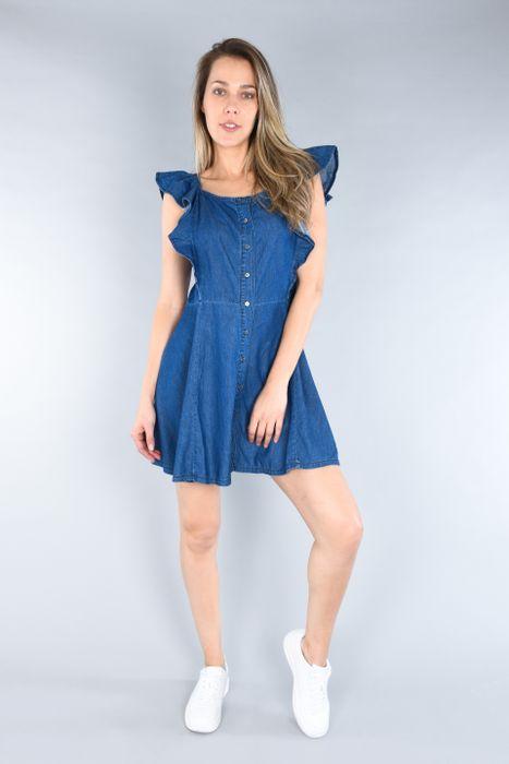 Vestido Corto Oggi Mezclilla Azul Medio Regular.