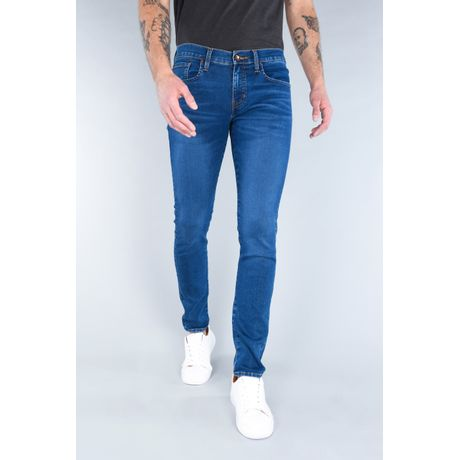 Jeans Oggi Hombre Azul Medio Mezclilla Risk Skinny