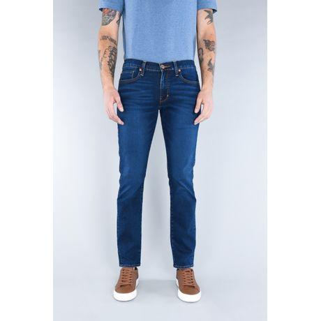 Jeans Oggi Hombre Mezclilla Azul Oscuro Vaxter 21109 Slim Straight