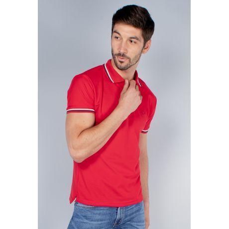 Polo Básica Oggi Hombre Piqué St Rojo Slim