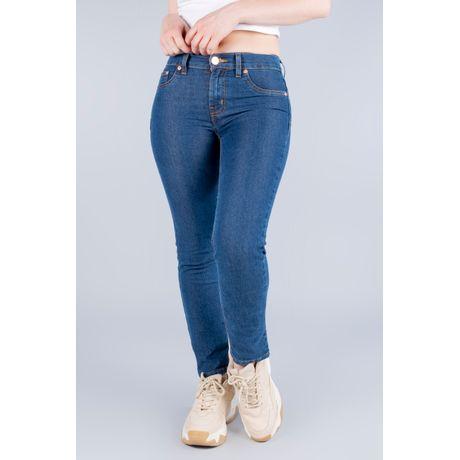 Jeans Oggi Mujer Azul Medio Mezclilla Milah Slim