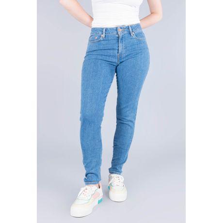 Jeans Oggi Mujer Mezclilla Azul Claro Lucy Súper Skinny