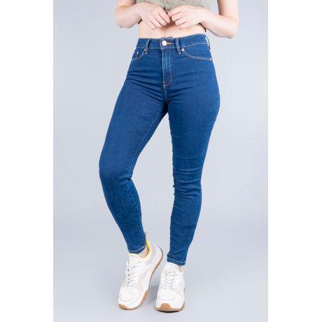 Jeans Oggi Mujer Mezclilla Azul Oscuro Lucy 5719191 Súper Skinny