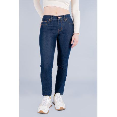 Jeans Oggi Mujer Mezclilla Azul Oscuro Milah 299800654 Slim