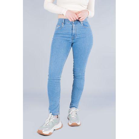 Jeans Oggi Mujer Mezclilla Azul Claro Passion Slim