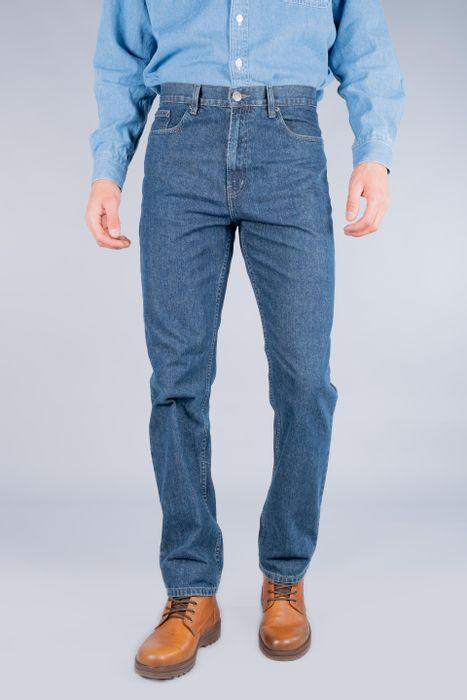 Jeans Oggi Hombre Azul Oscuro Mezclilla Power Straight