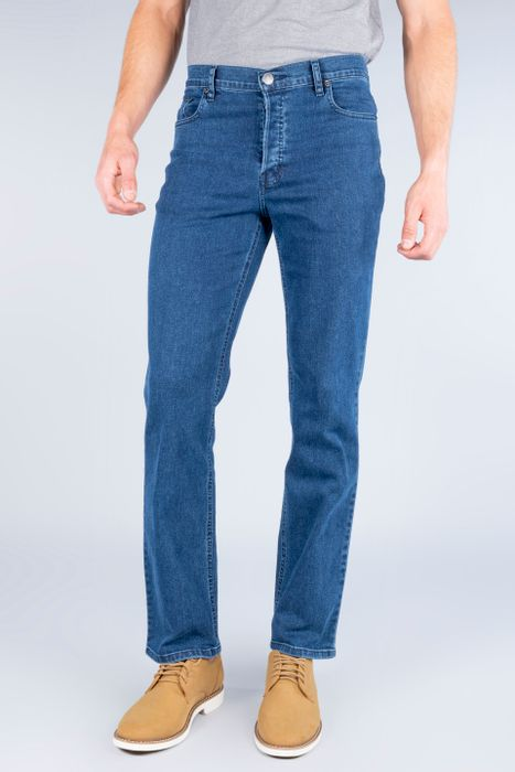 Jeans Oggi Hombre Azul Medio Mezclilla Reckless Straight
