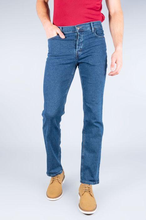 Jeans Oggi Hombre Mezclilla Azul Oscuro Reckless Straight
