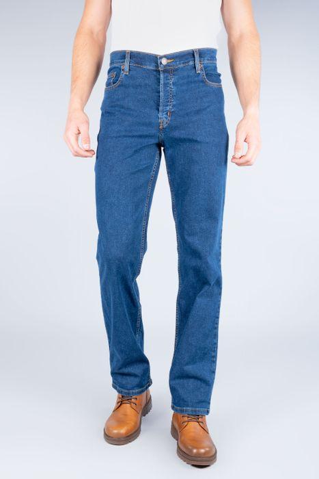 Jeans Oggi Hombre Mezclilla Azul Medio Reckless Straight