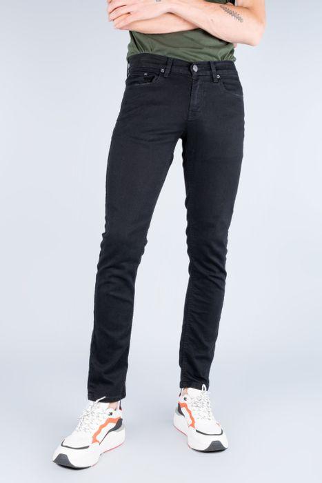 Jeans Oggi Hombre Mezclilla Negro Risk Skinny