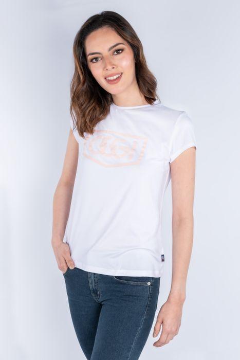Playera Moda Oggi Mujer Blanco Stretch Slim