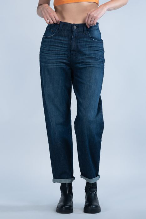 Jeans Oggi Mujer Mezclilla Azul Oscuro Mom 2142173 Relaxed