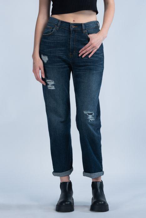 Jeans Oggi Mujer Mezclilla Azul Medio Mom 2142175 Relaxed