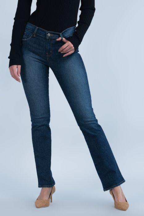 Jeans Oggi Mujer Mezclilla Azul Medio Yess 2142162 Boot Cut