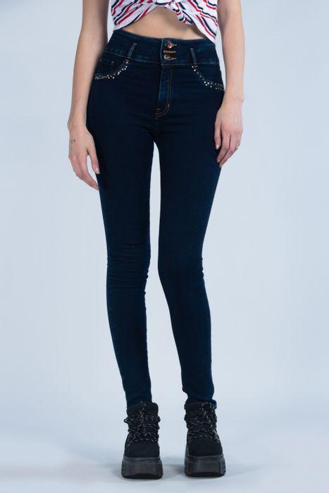 Jeans Oggi Mujer Mezclilla Azul Oscuro Katia 2142132 Súper Skinny