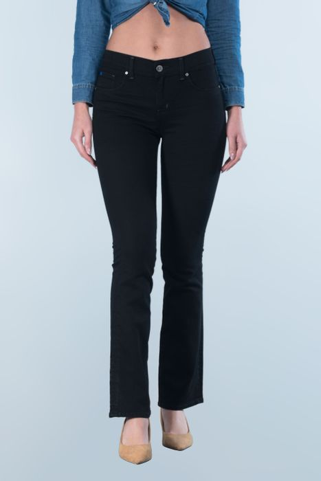Jeans Oggi Mujer Mezclilla Black Yess 2142163 Boot Cut