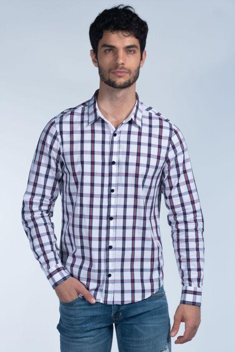 Camisa Moda Oggi Hombre Popelina Blanca Combinada 2141309 Slim